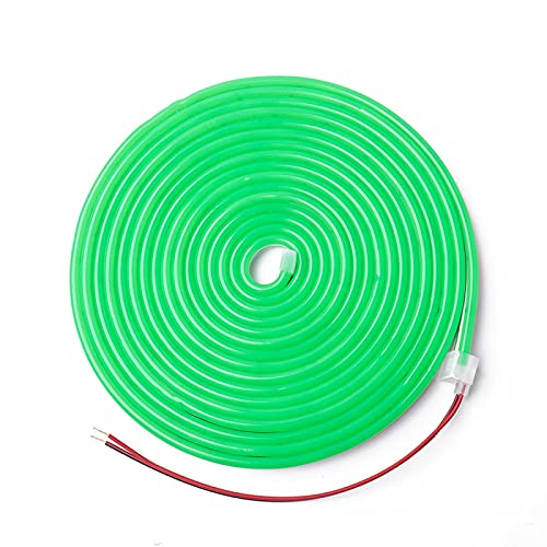 Lamp with lighting 2835 12v flexible silicone neon low-voltage waterproof Christmas light bar luminous word light bar 5M Green